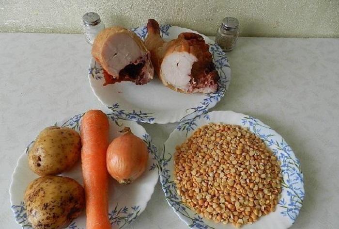 Состав супа с куриными бёдрышками