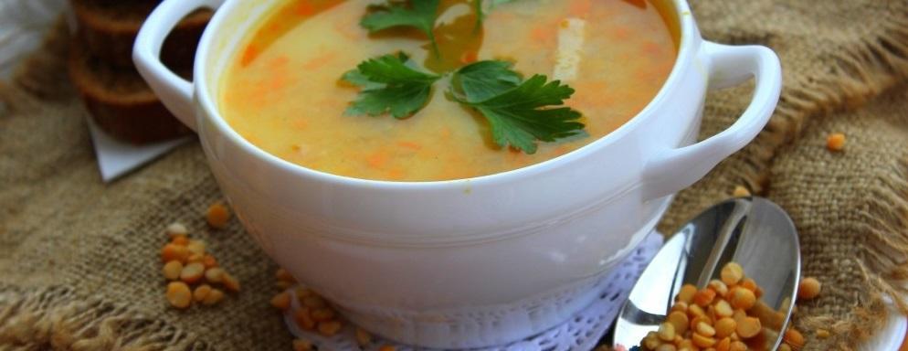 Суп-пюре с горохом и беконом