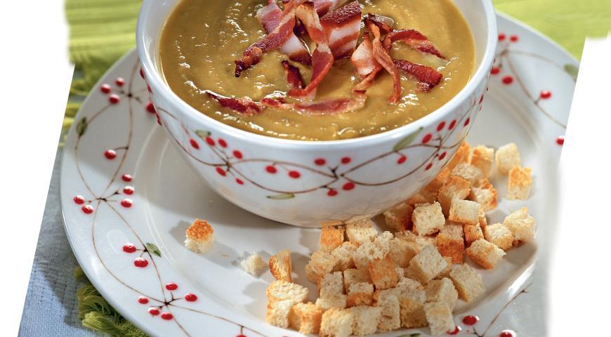 Суп-пюре с грудинкой