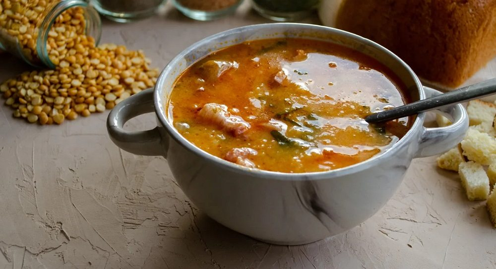 Суп с копчёными крылышками