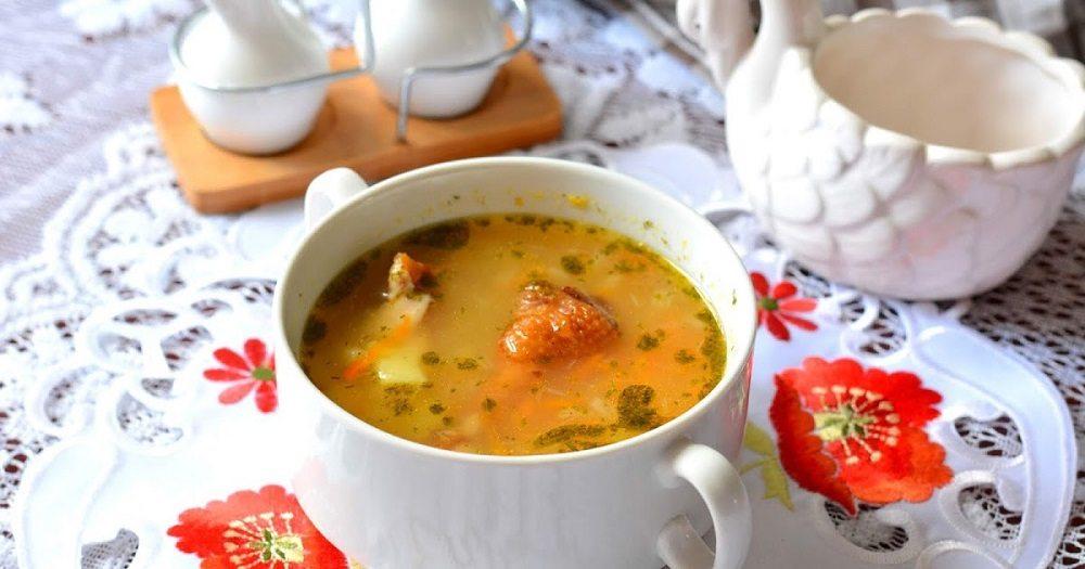 Суп с крылышками и вермишелью