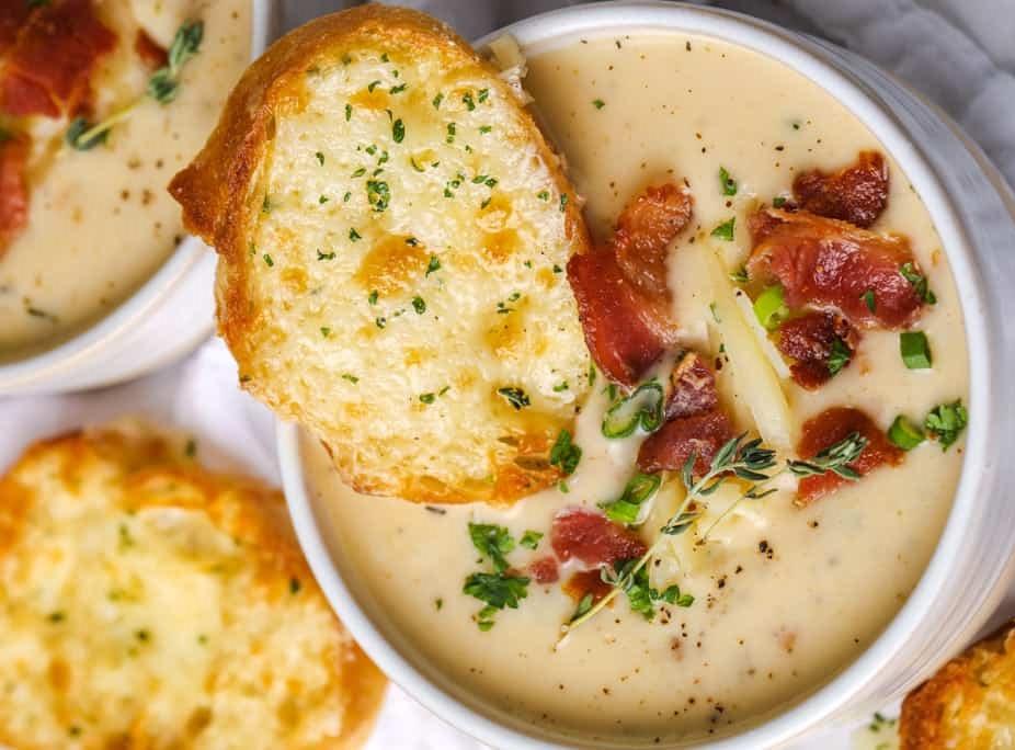 Сырный суп-пюре с курицей