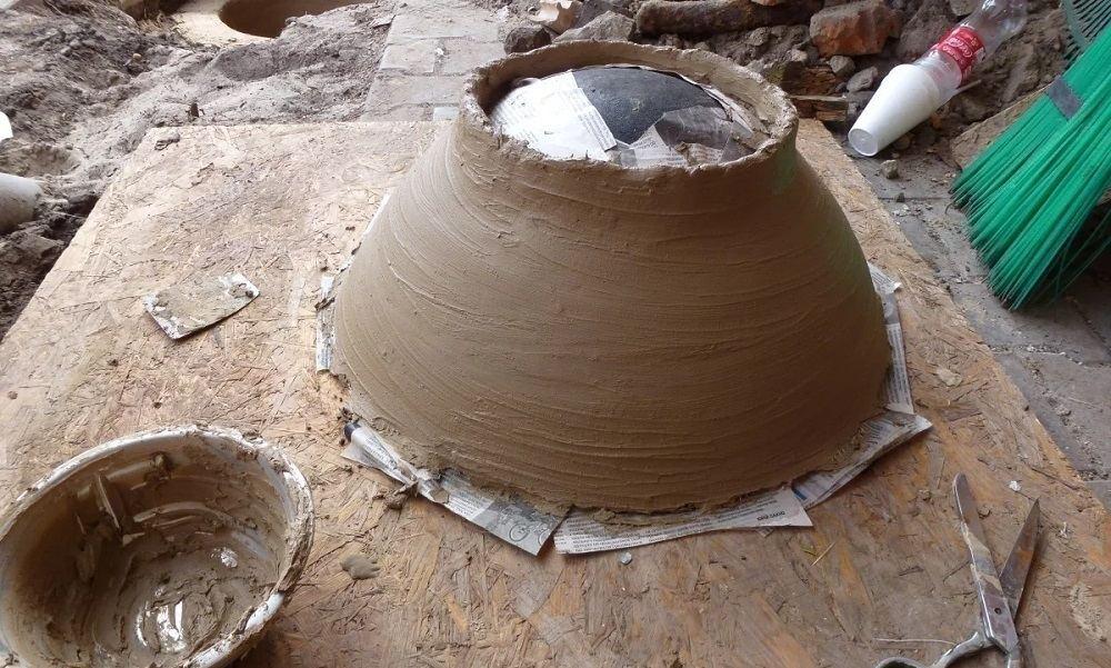 Купол тандыра в земле