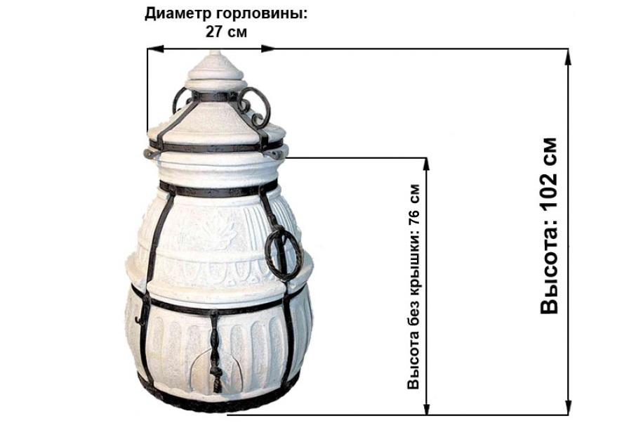 Размеры переносного тандыра