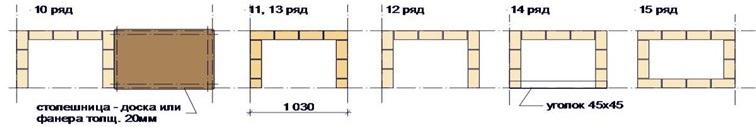 10-15 ряды