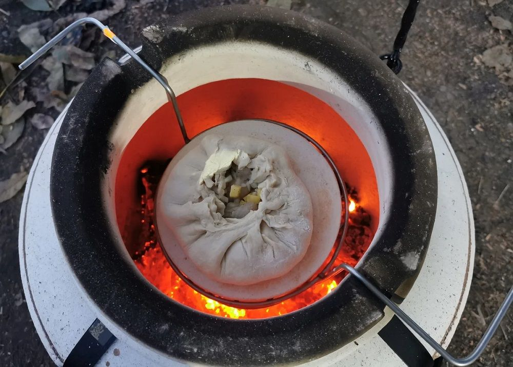 Готовка в тандыре на углях