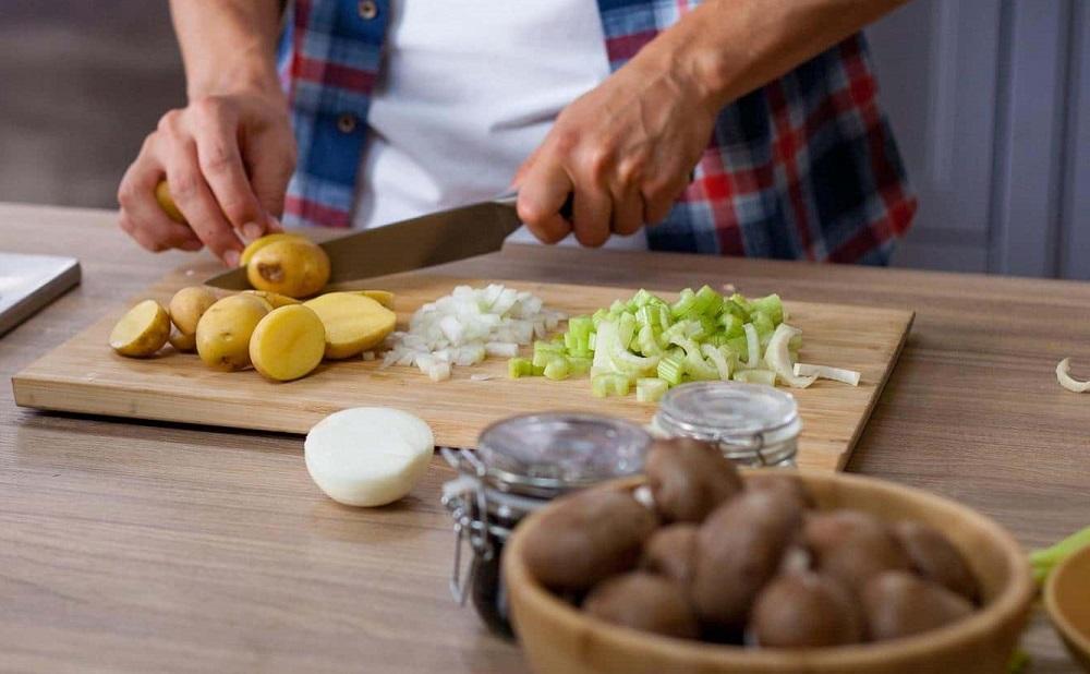 Картошка, шампиньоны, сельдерей