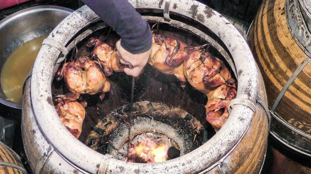 Курица на крюках в тандыре