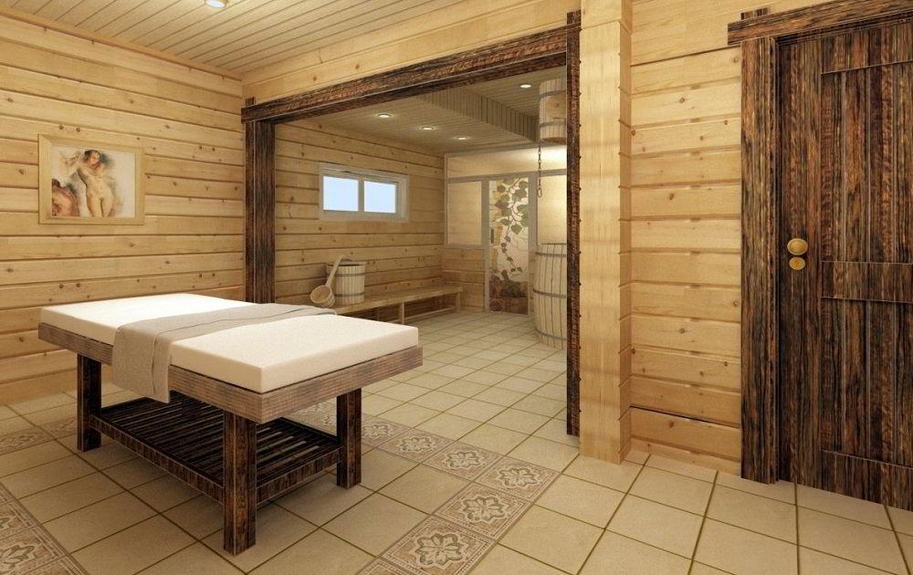 Плитка в бане