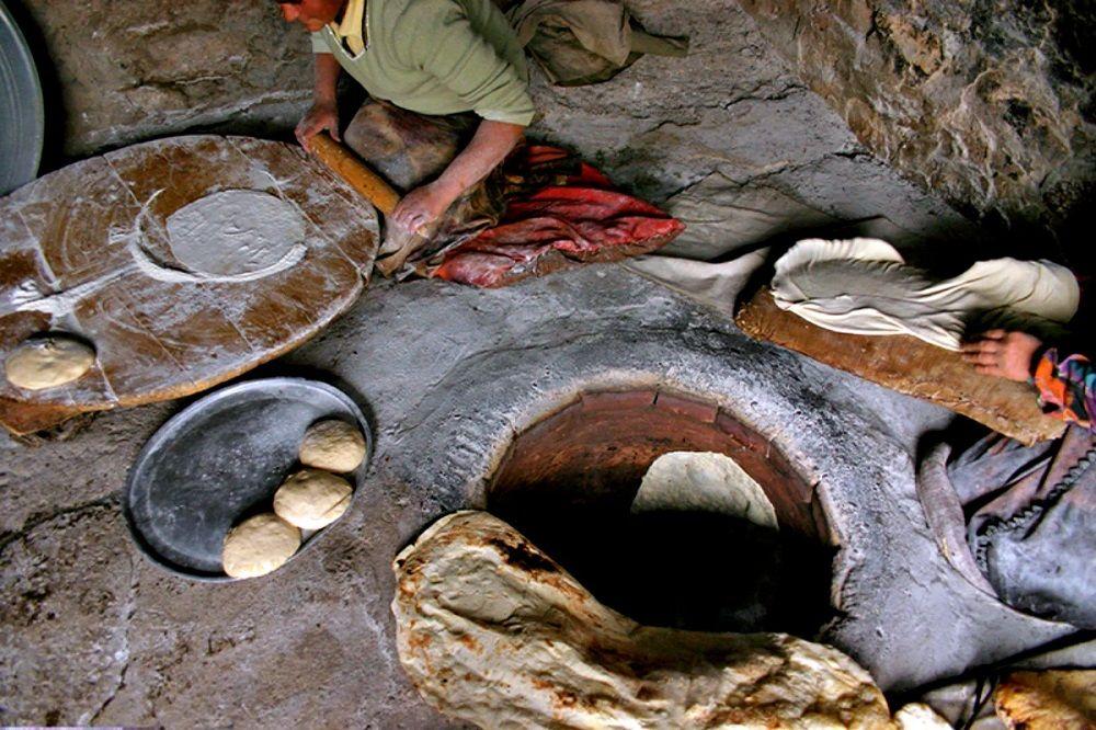 Земляная азиатская печь
