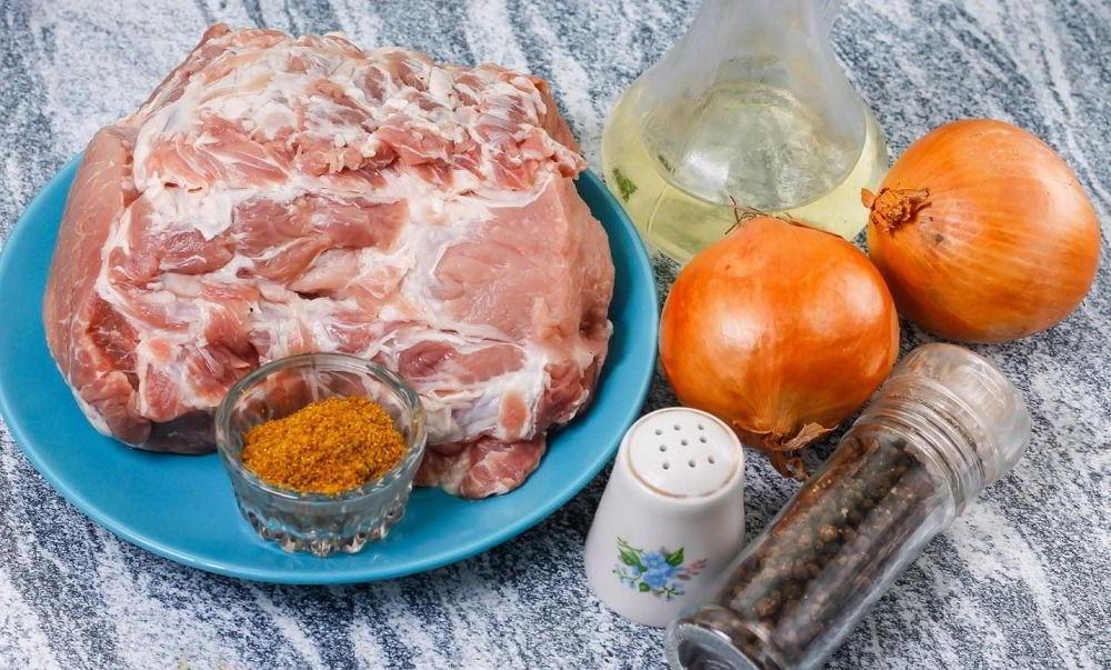 Ингредиенты для армянского шашлыка из свинины