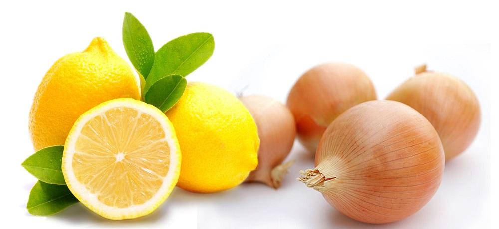 Лимон и лук