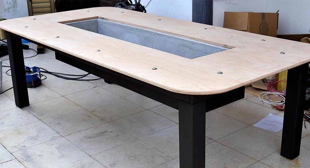 Обшивка стола фанерой