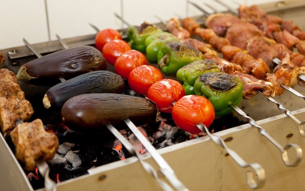 Овощной армянский шашлык