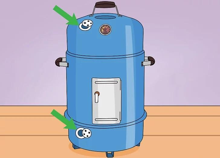 Вентиляционные отверстия в коптильне
