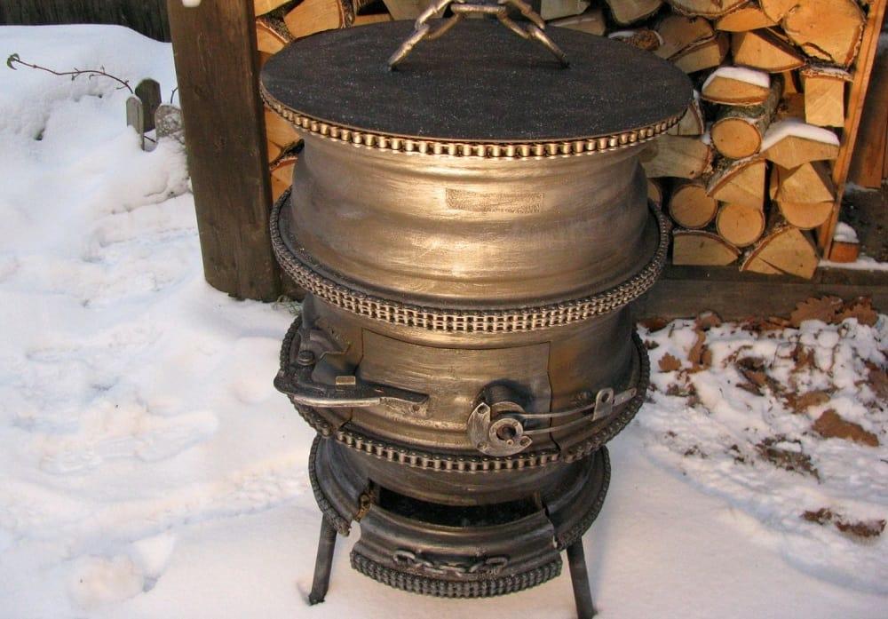 Декор мангала из дисков