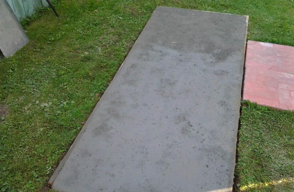 Фундамент для мангала из бетона