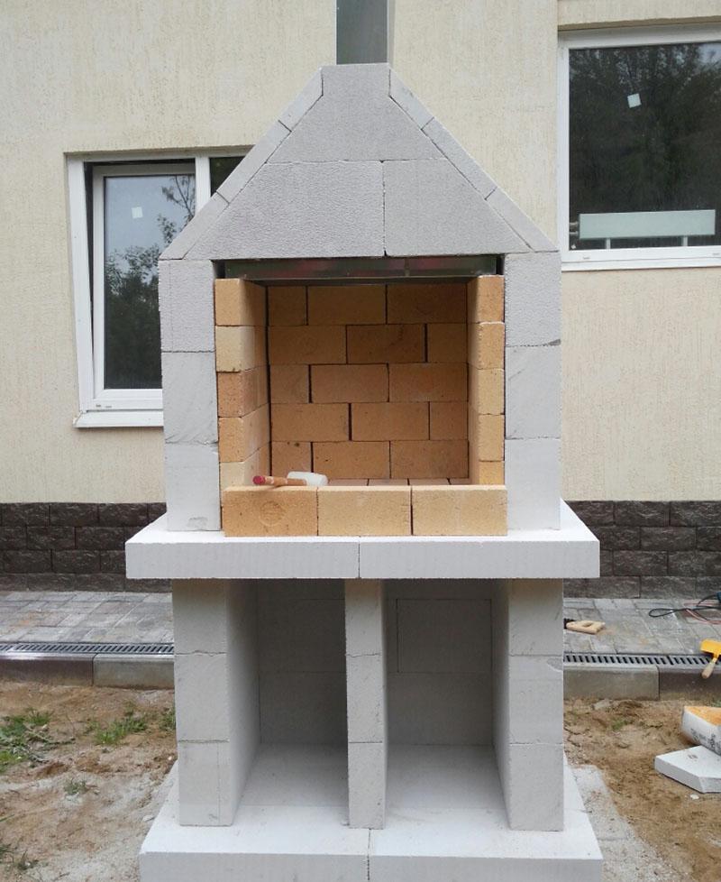Готовый мангал из бетона