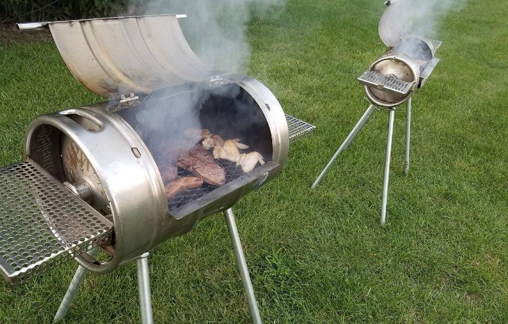 Мясо в мангале из бочки