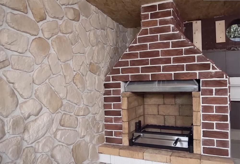 Отделка мангала из бетона