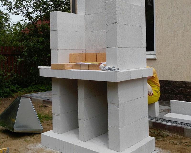 Топка мангала из бетона