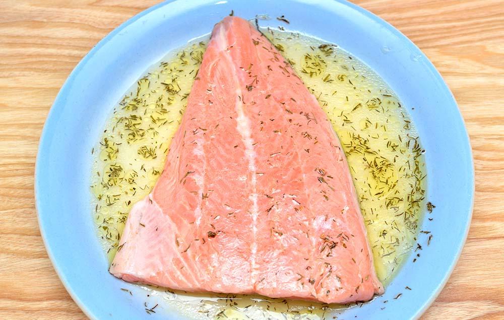 Лимонный маринад для красной рыбы