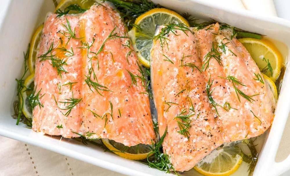 Лимонный маринад для лосося