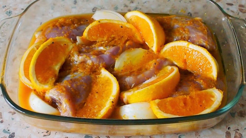 Маринад из апельсина для кролика