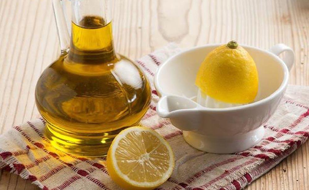 Масло оливы и лимон