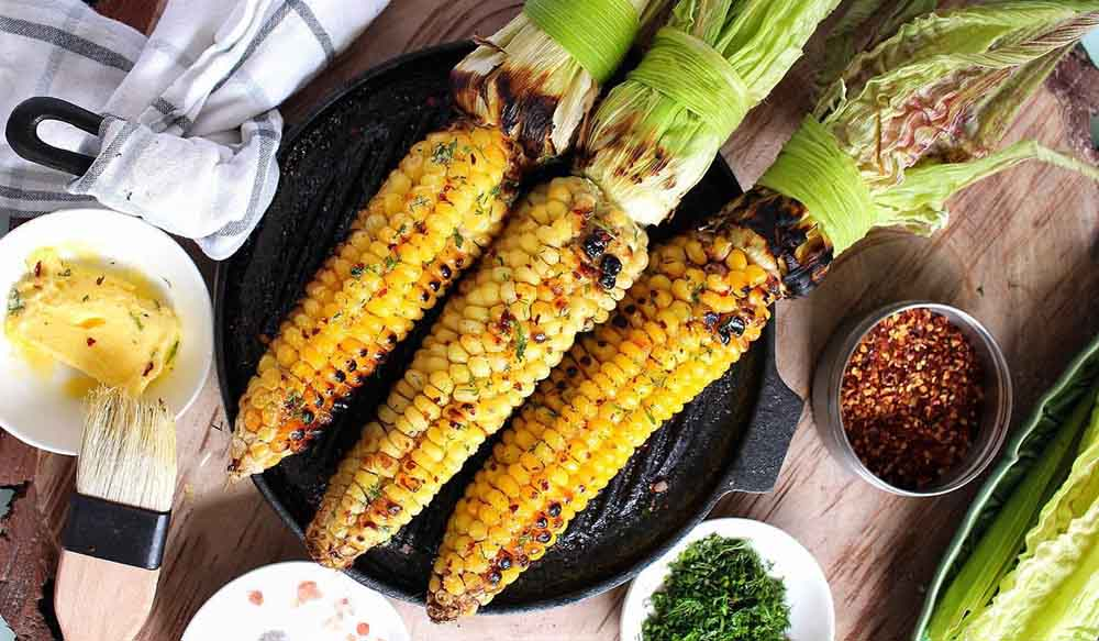 Початки кукурузы на мангале