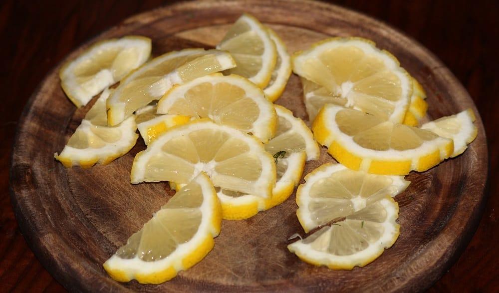 Полукольца лимона для шашлыка