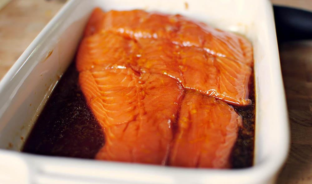 Соевый маринад для красной рыбы