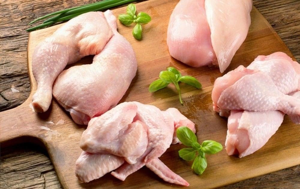 Части целой курицы