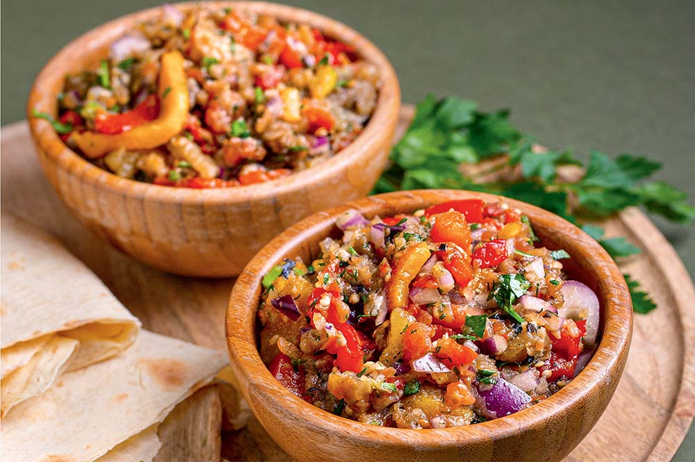 Грузинский салат на мангале