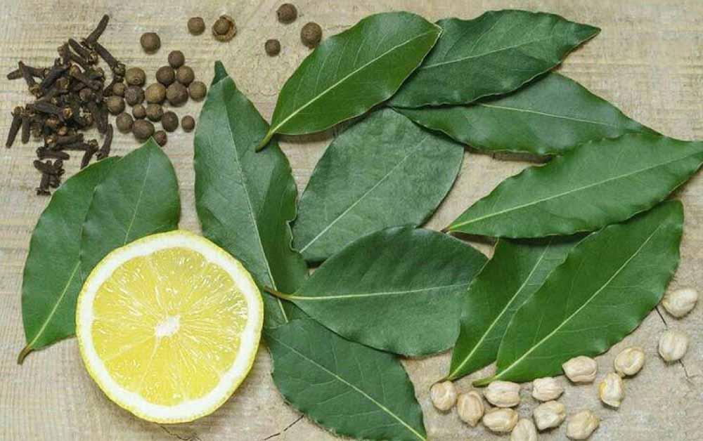 Лимон, лавровый лист, гвоздика, перец