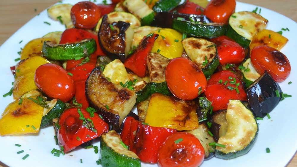 Овощи из фольги