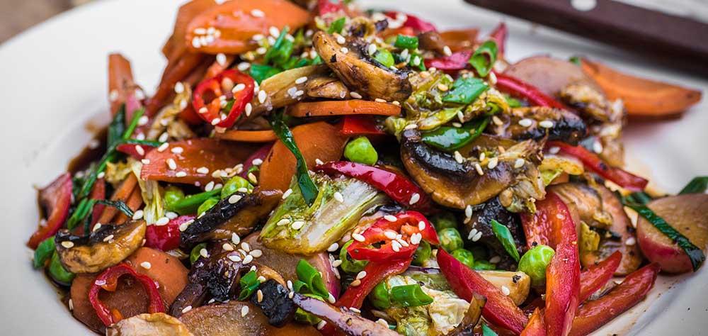 Овощи в соевом соусе