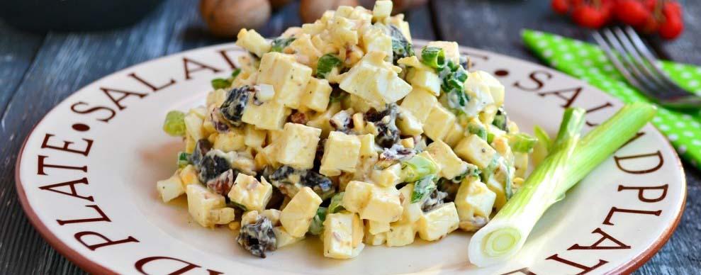 Салат с тофу и орехами
