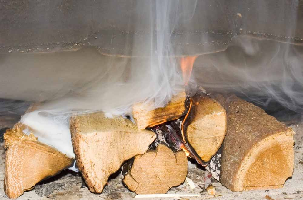 Сырые дрова для шашлыка