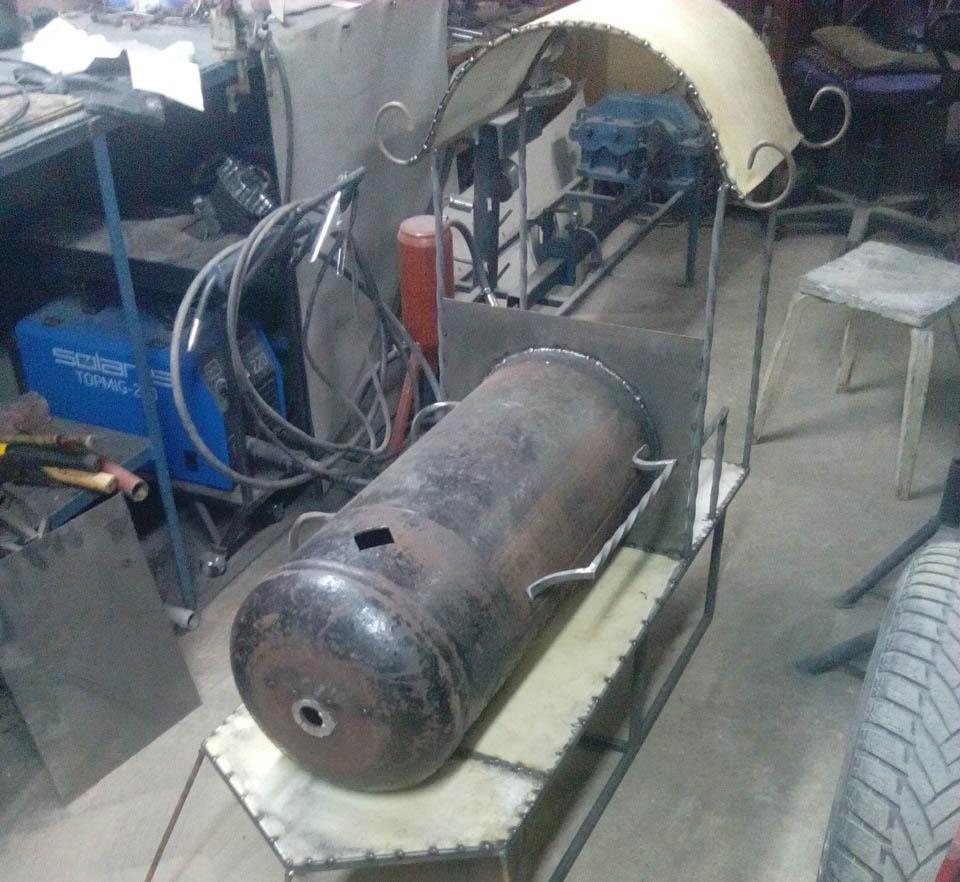 Крыша для мангала-паровоза