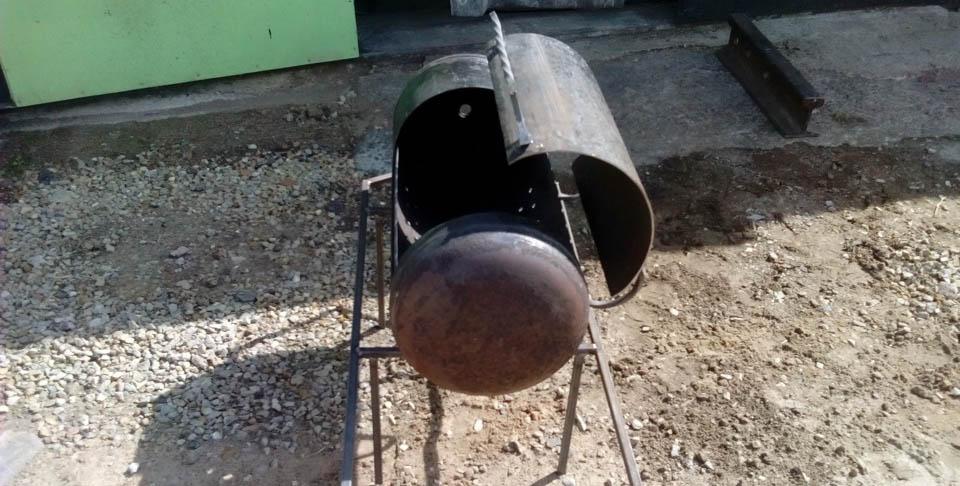 Приваренная крышка к мангалу
