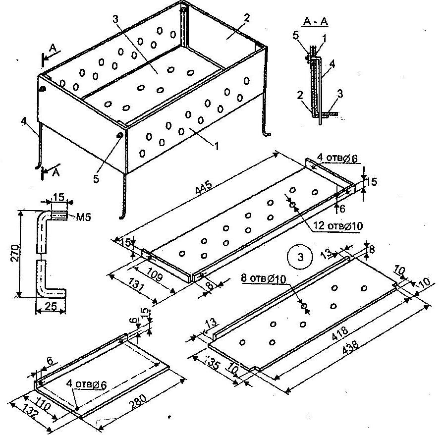 Схема простого мангала
